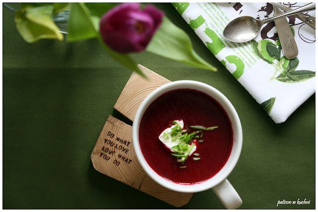 Zupa krem z buraków, czyli kolorowo i zdrowo.