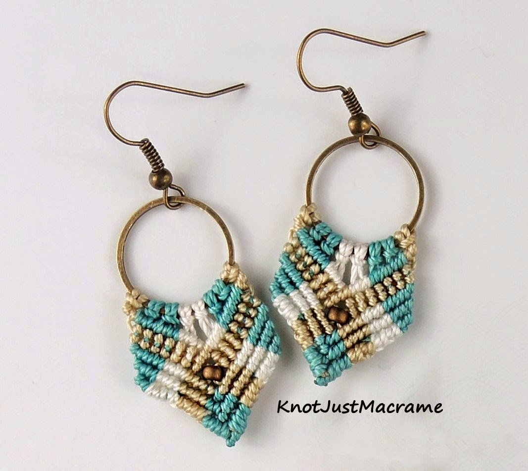 Short version of Gypsy micro macrame earrings from Sherri Stokey