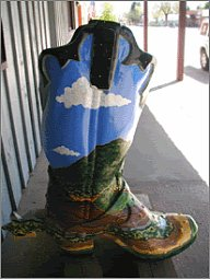 Wyoming boot sculpture
