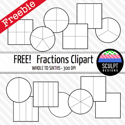 fractions clipart clip art math mathematics