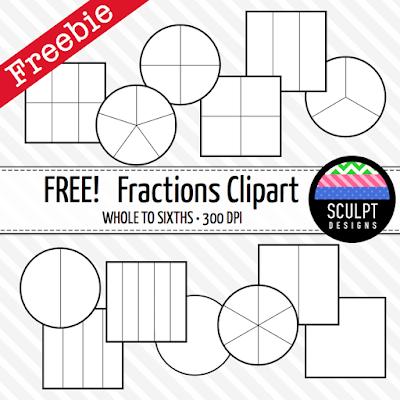 fractions clipart clip art math mathematics