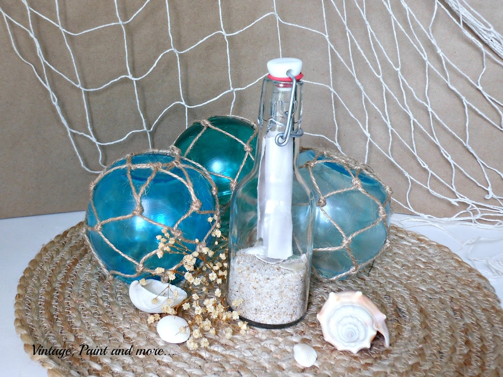 Vintage, Paint and more... crafts with mod podge, dollar tree crafts, faux sea glass craft