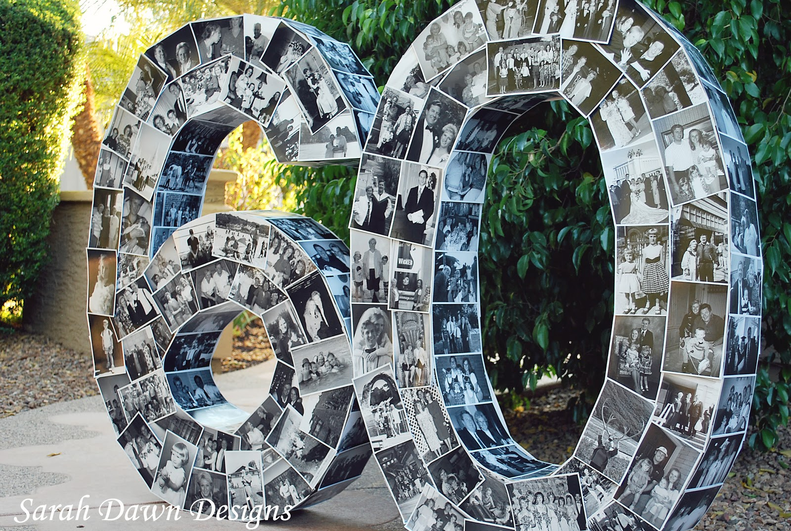 Sarah dawn designs happy 60th birthday and the photo numbers for Large 3d numbers