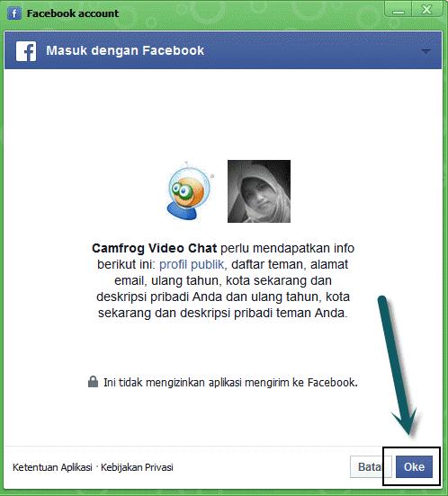 buat akun camfrog dengan akun facebook