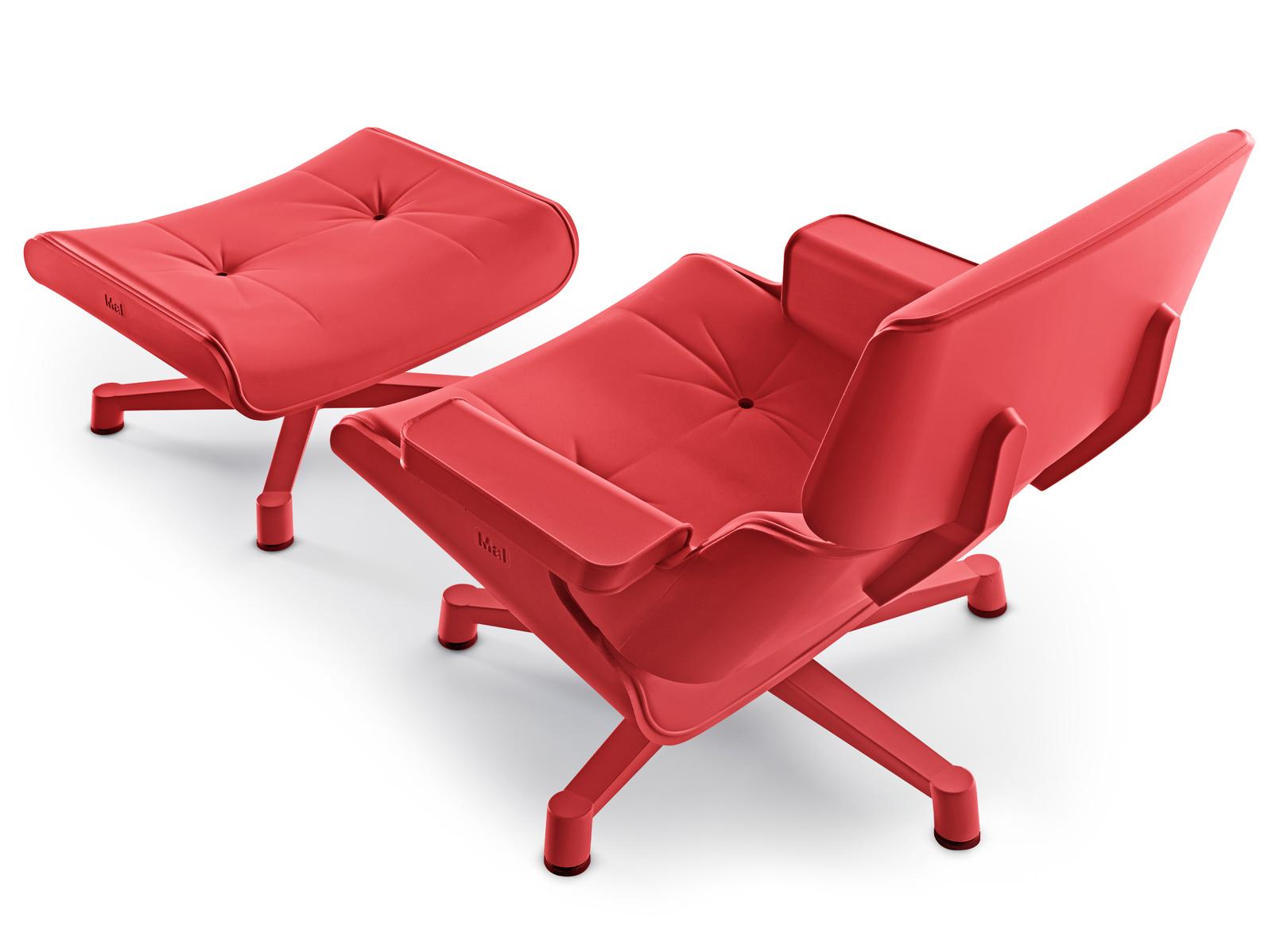 Designwereld: design tuinmeubels: eames lounge chair voor in de tuin!