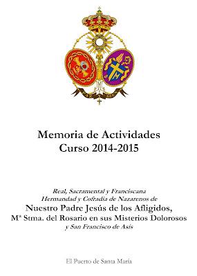 MEMORIA DEL CURSO COFRADE 2014-2015