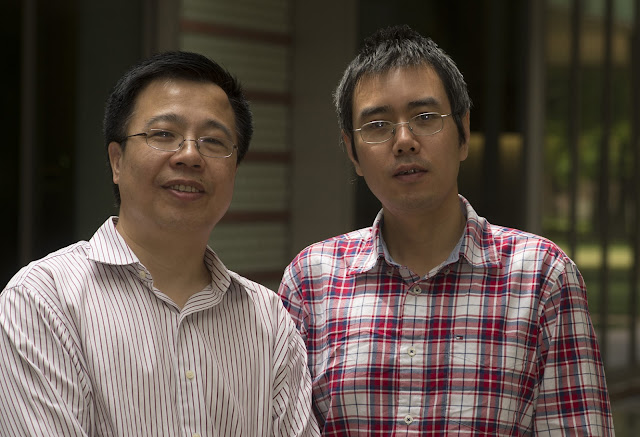 Rice University physicists Qimiao Si (left) and Rong Yu. Credit: Jeff Fitlow/Rice University