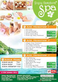 Promotion at Yoyoy Kamphora Spa.