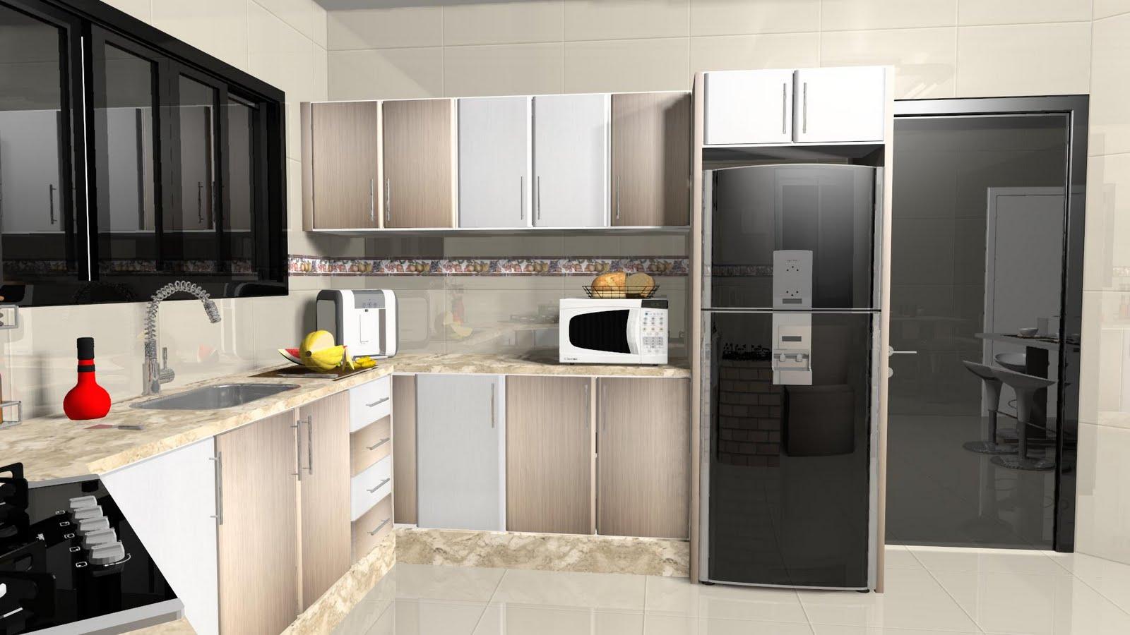 Espaço Nobre Design: Cozinha (Vanilla Montego Blanc) #C60606 1600 900