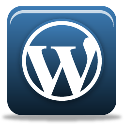 Blue 3D WordPress Icon