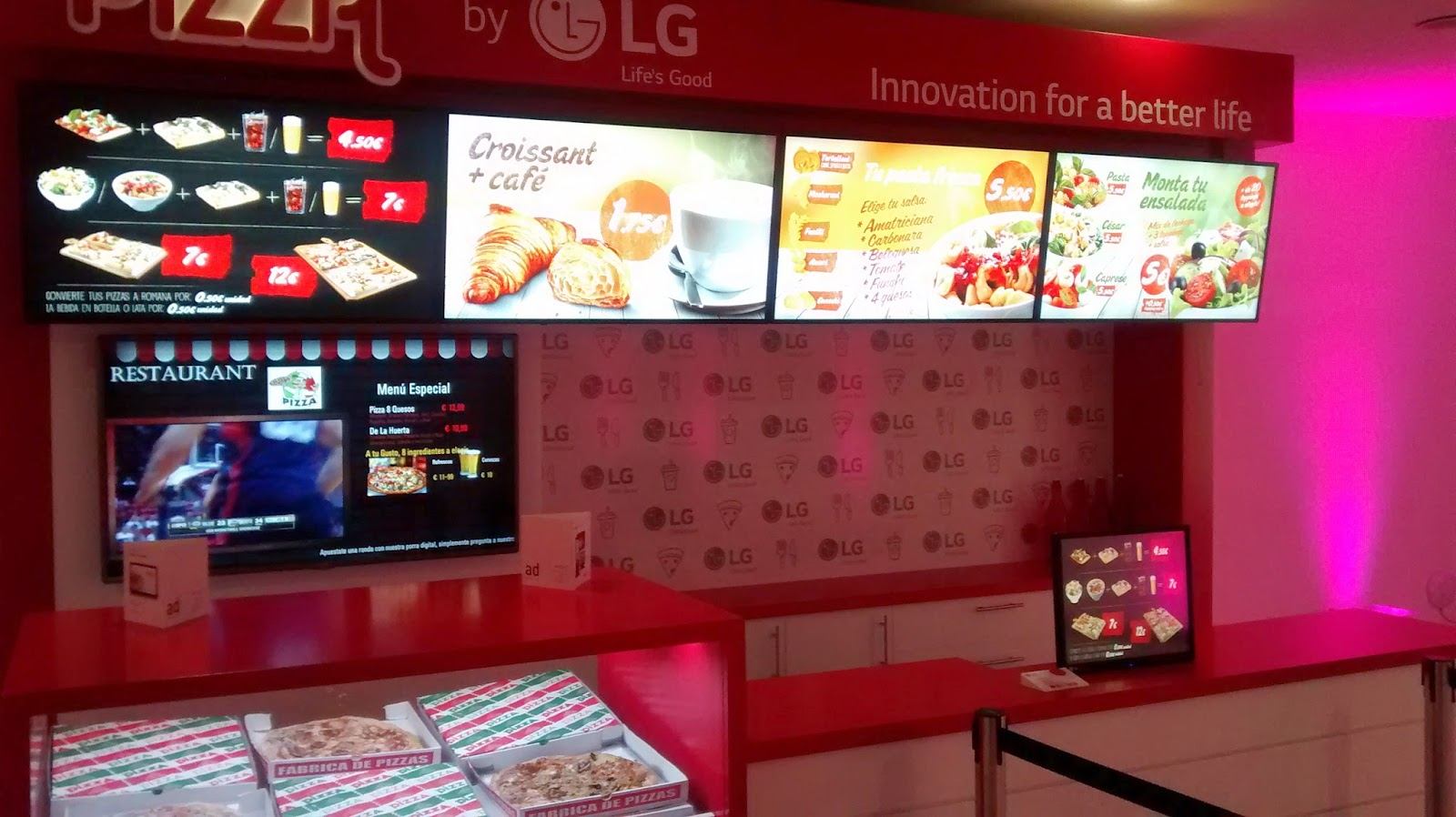 soluciones LG menu boards