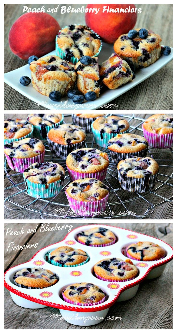 Peach and Blueberry Financiers | Manila Spoon