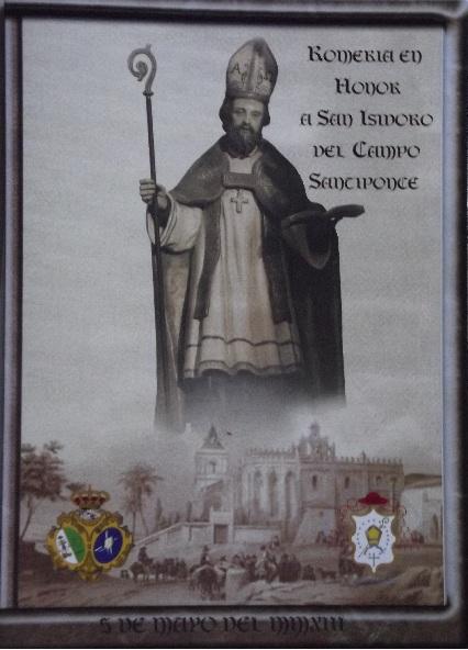 Cartel anunciador de la Romería en Honor de San Isidoro-Santiponce