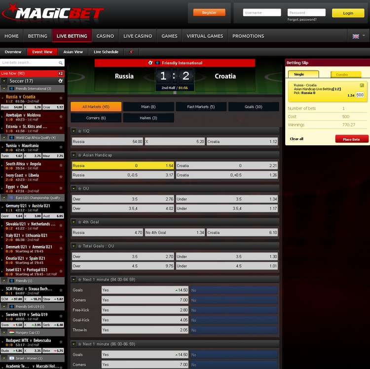 Magicbet Live Betting Offers