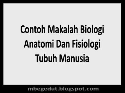 Contoh Makalah Anatomi Dan Fisiologi Tubuh Manusia
