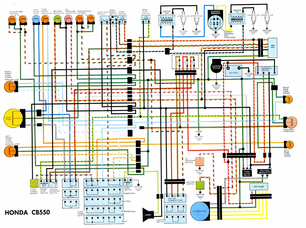 Honda Schematic Diagram Simple Wiring Circuit With Parts List Cb550 Electrical Panel Switch