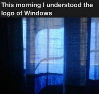 The logo of Windows