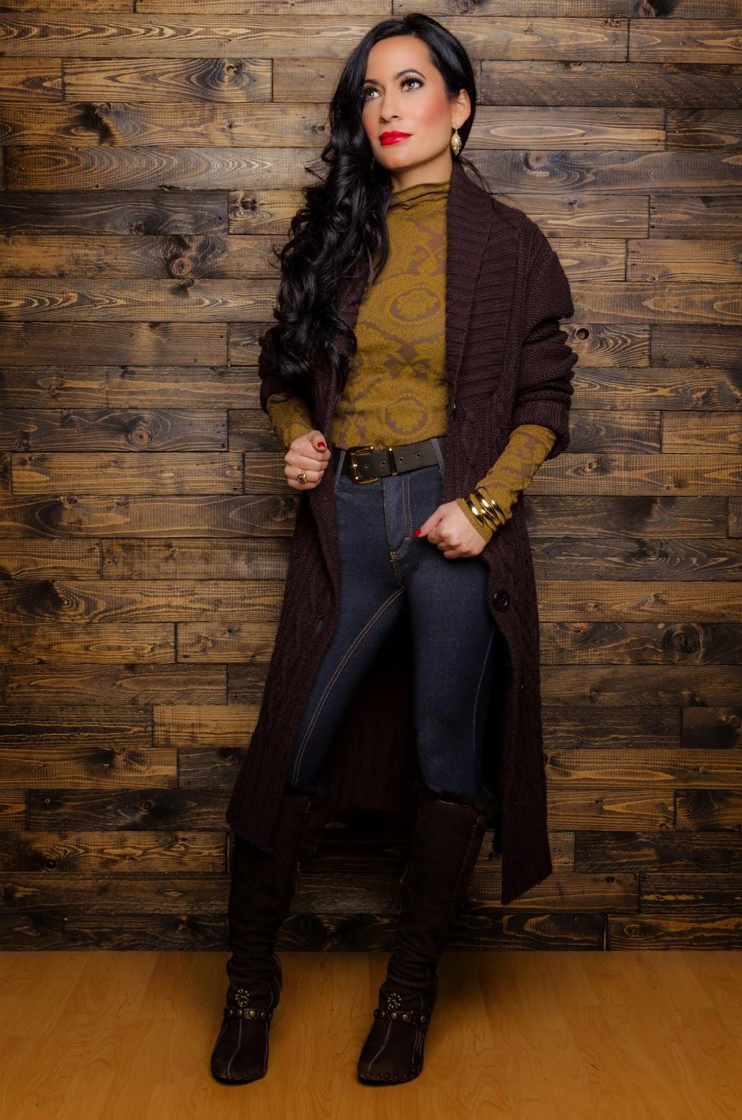 Roberto Cavalli suede boots Lapis brown sweater  Deca de Vous a Nous La Bijou jeggings