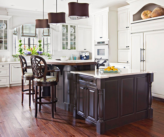 Modern furniture 2012 white kitchen cabinets decorating design ideas Kitchen design mixed cabinets