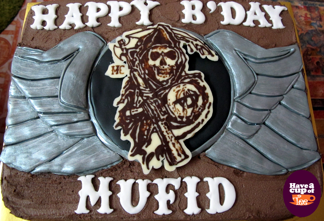 Have A Cup Of Tee Sons Of Anarchy Theme Bday Cake