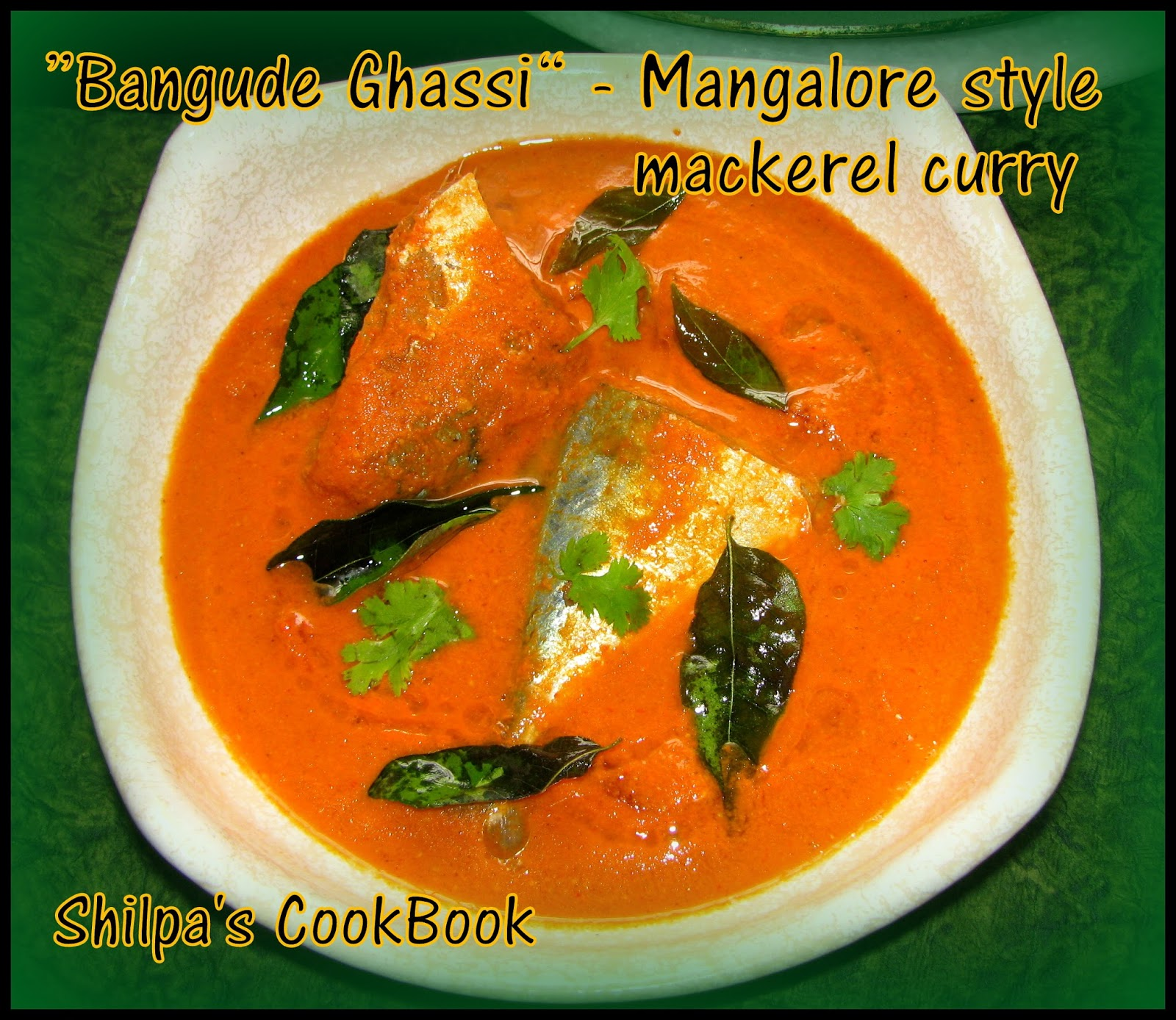 Cook book bangude ghassi mackerel fish curry for How to cook mackerel fish