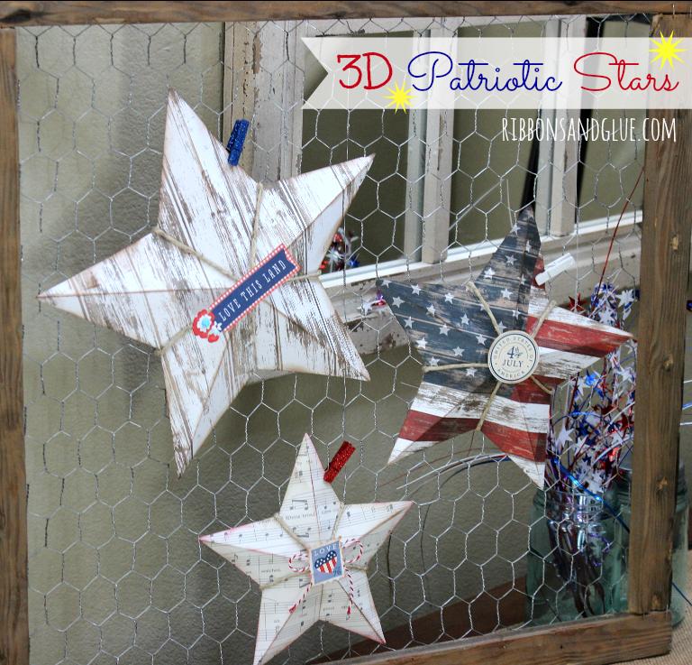 3D Patriotic Stars