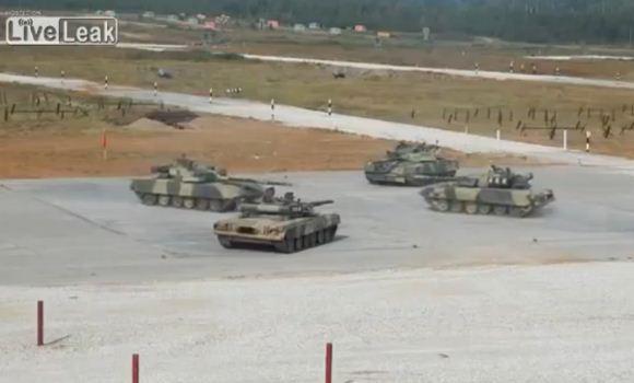 T-80 saat opening ceremony 2014 Tank Biathlon
