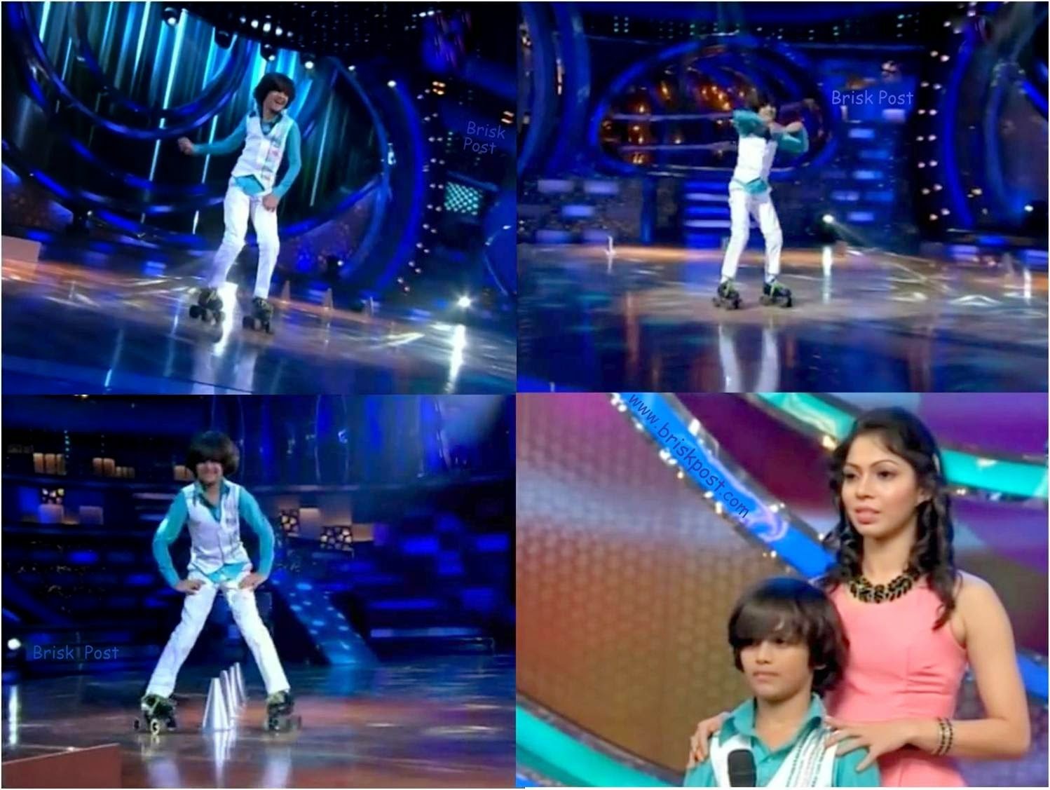 Free Style dance act with skating by Venkatesh in DID Little Masters