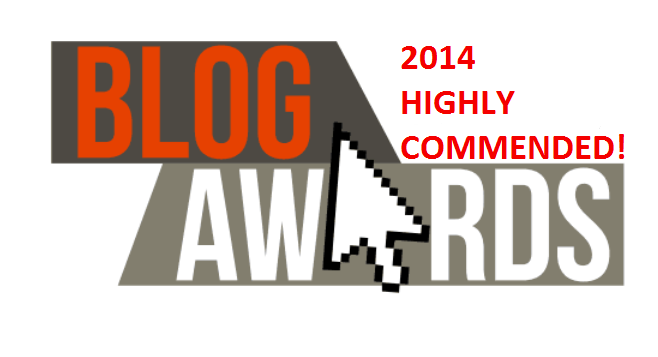 Highly Commended in UK Blog Awards