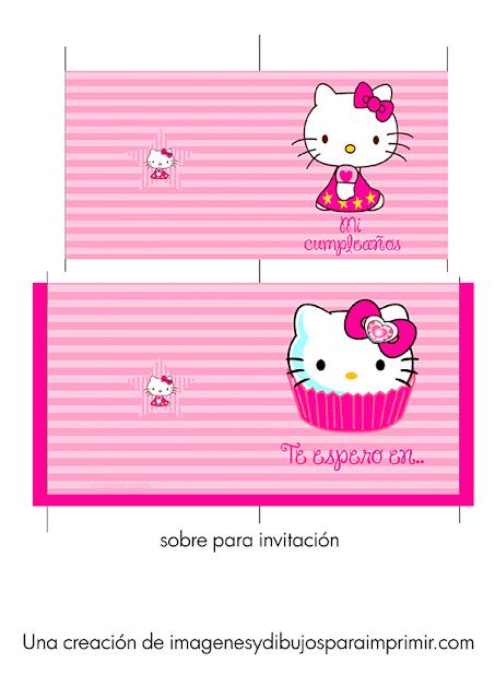 Invitaciones hello kitty