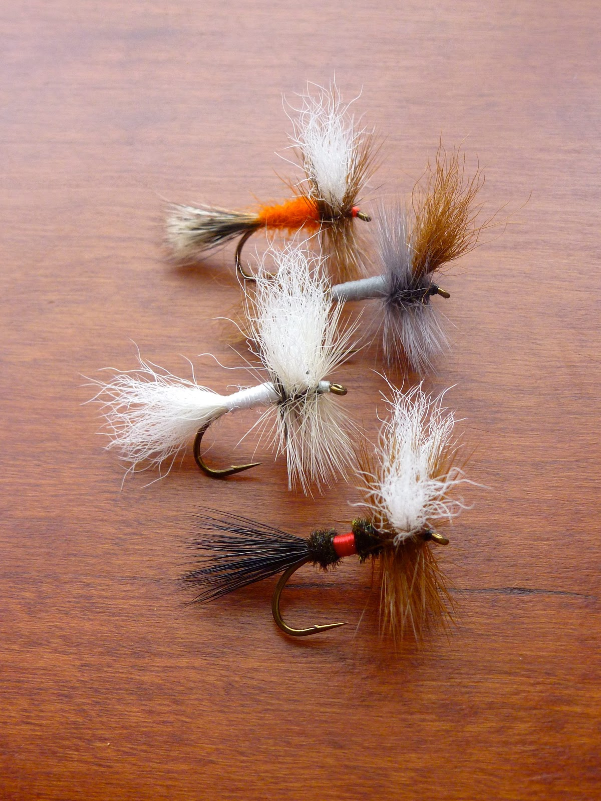 D6 6 No Red CDC dry flies size 12