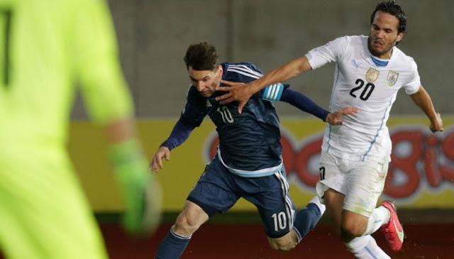 grupo b - copa america chile 2015 - argentina 1 uruguay 0