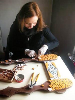Sylwia - w trakcie pracy nad mozaiką