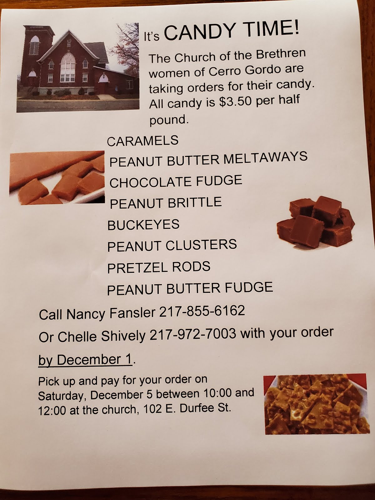 Time to Order Your Candy!