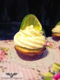 Chocolatey lime/coconut cupcake