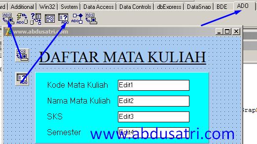 cara koneksi database acces di delphi