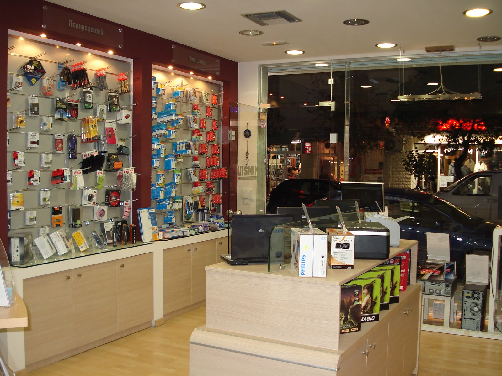 square design interiors: COMPUTER STORE