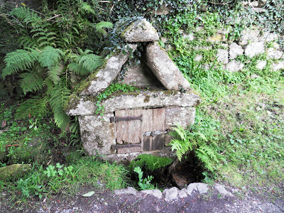 Saxon Well in Widecombe, Dartmoor, Devon