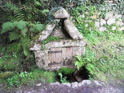 Saxon Well in Widecombe, Dartmoor, Devon