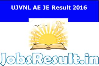 UJVNL AE JE Result 2016
