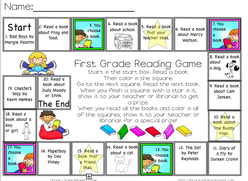 Reading Games for your Students - Library Learners