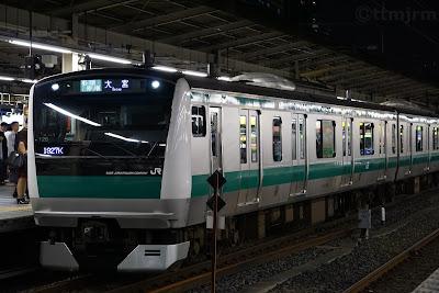 池袋駅停車中の埼京線E233系7000番台