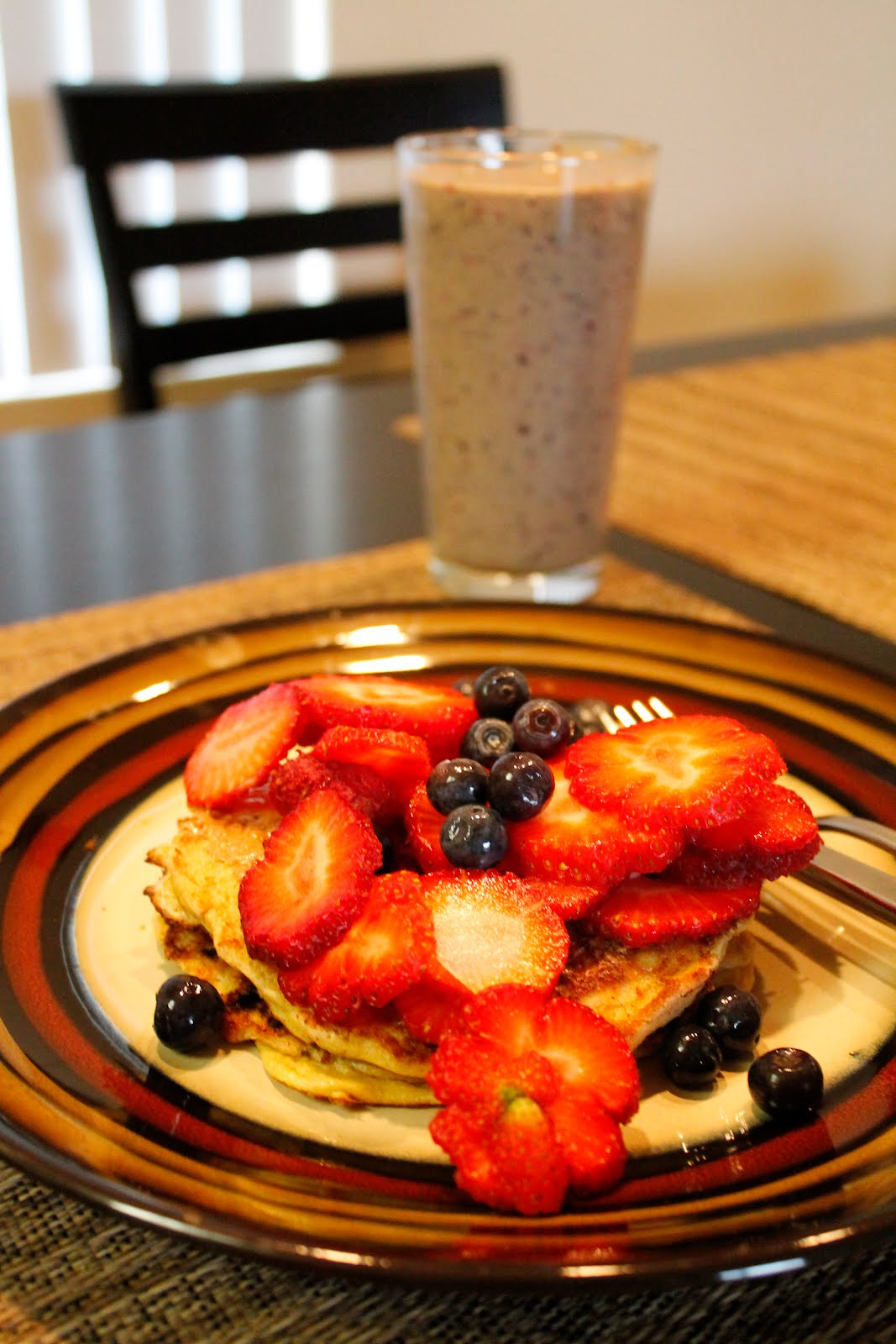 strawberry blueberry mango pancake
