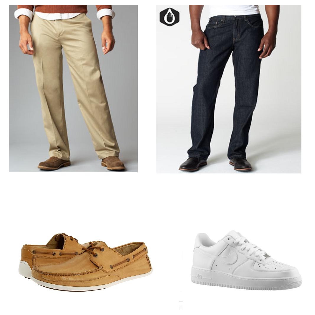 Color Socks Khakis Brown Shoes