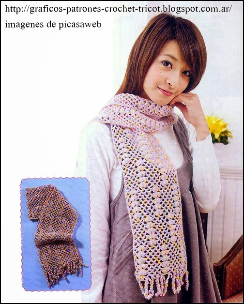 crochet fabric , CROCHET - GANCHILLO - PATRONES - GRAFICOS: BUFANDAS ...