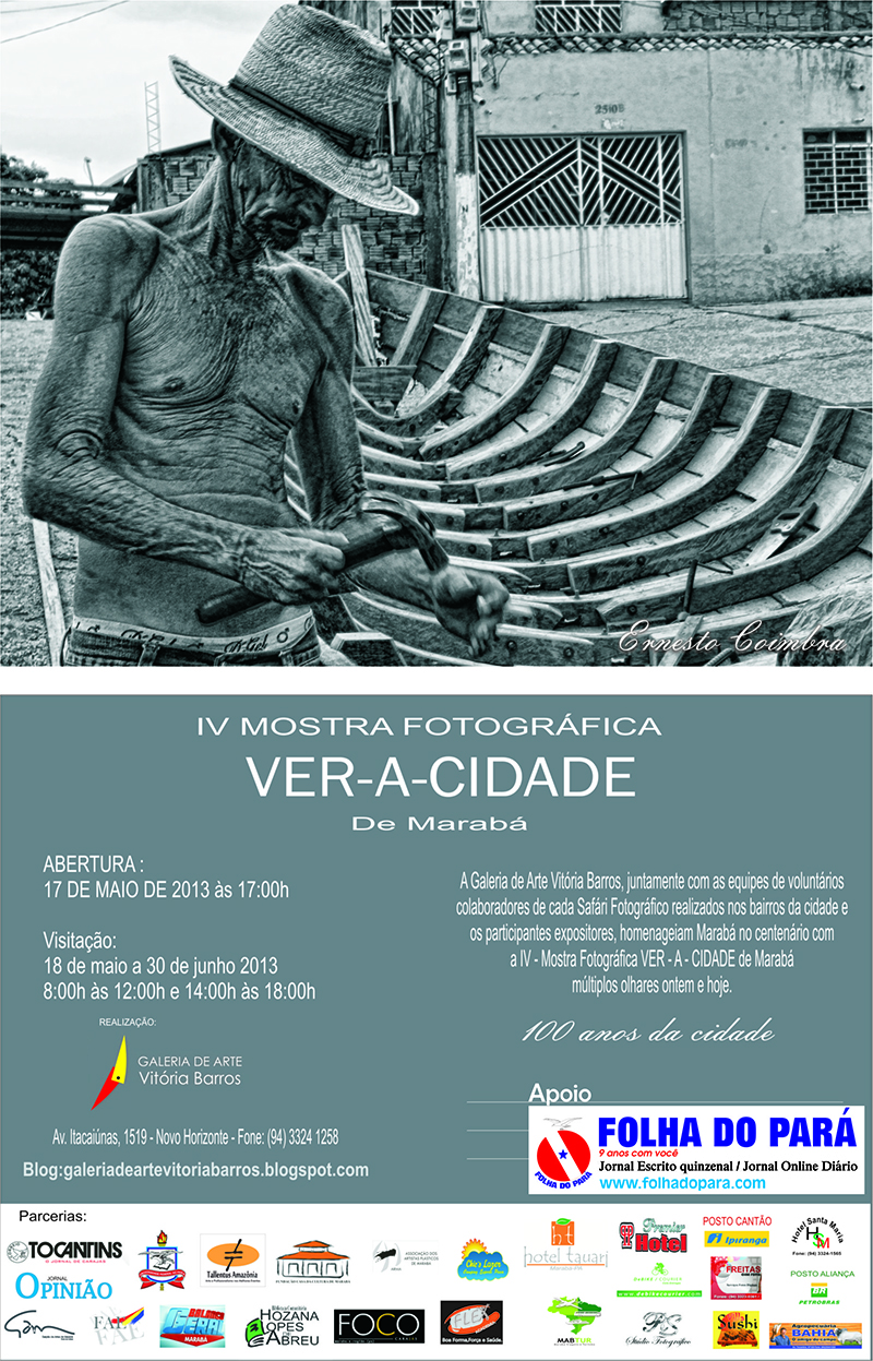 CONVITE MOSTRA FOTOGRFICA VER-A-CIDADE 100 ANOS MARAB