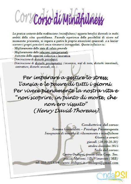 psicologia, psicoterapia, vimercate, ottobre 2015