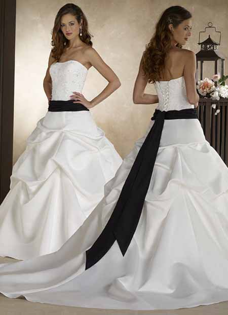 Wedding Dresses With Color Sashes 78