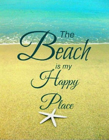 The beach is my happy place. Print.