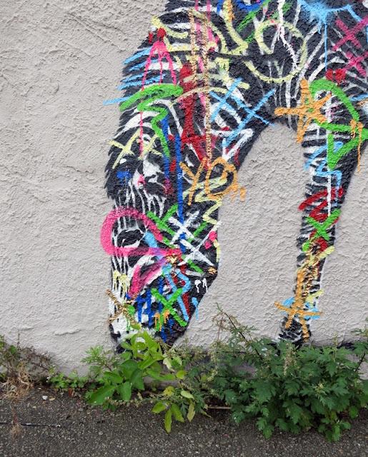Street Art Murals By Martin Whatson In Stavanger Norway For Nuart Urban Art Festival. details of zebra